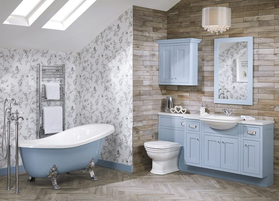 Add style to your bathroom with wallpaper - Vanity Hall